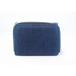 Portefeuille 2 en 1 en tissu jeans Personnalisable