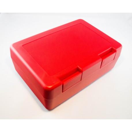 Boîte à sandwich et goûter rouge personnalisable