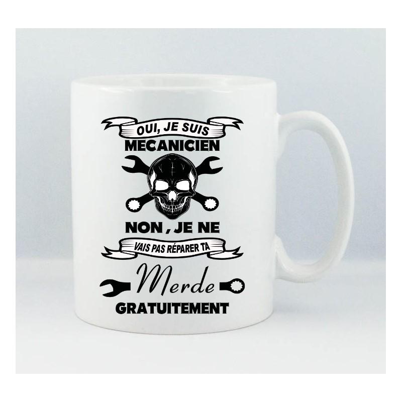 Favori Mug céramique blanche Mécanicien en colère - photo - texte - à  YZ15
