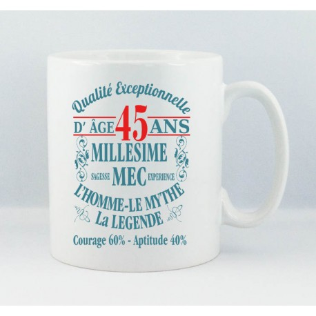 Mug Age Millésime Mec
