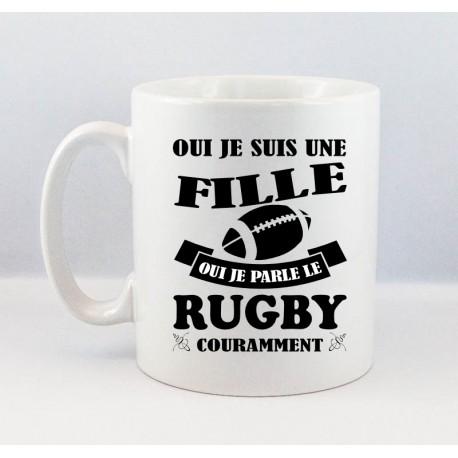 Mug Fille Rugby Noir