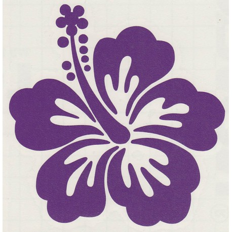 Stickers Fleur d'Hibiscus 03