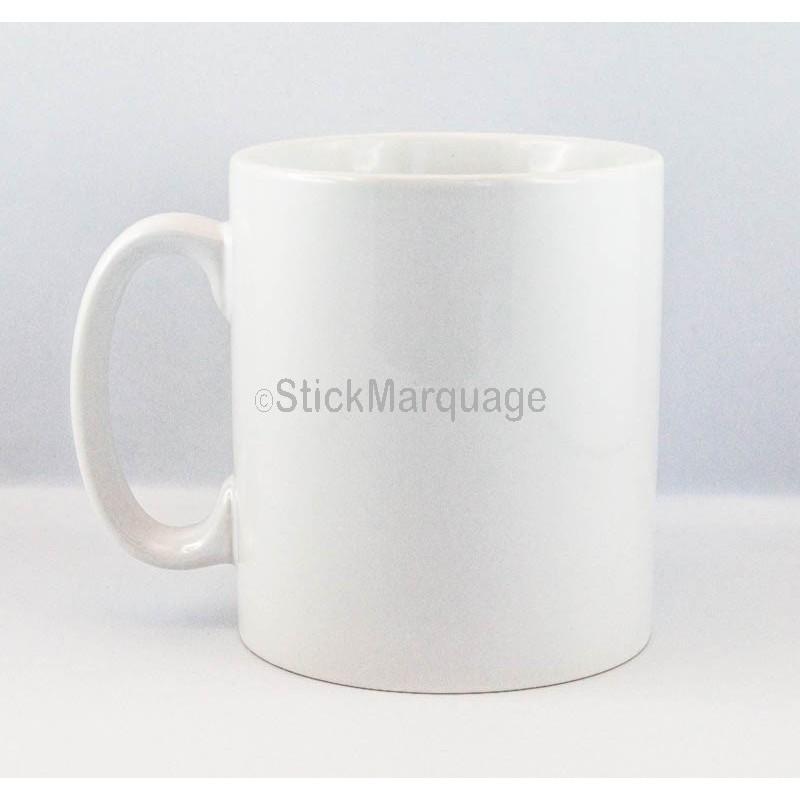 mug c ramique blanche cadeau photo texte personnaliser sublimation stick marquage agen. Black Bedroom Furniture Sets. Home Design Ideas