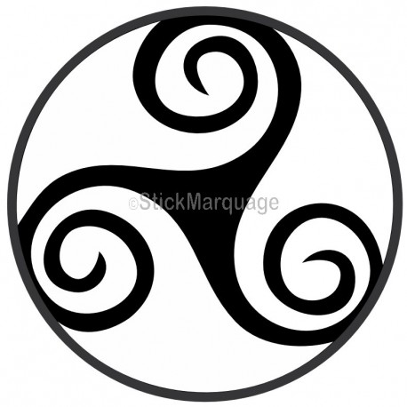 Sticker Triskel Celtique