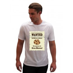 Tee-shirt Sublimation Wanted Cookie