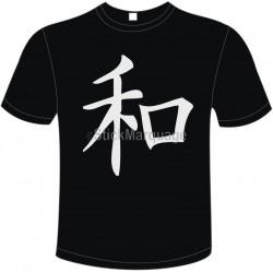 Tee-shirt Noir B&C Peace/Paix Homme Exact 190
