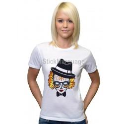 Tee-shirt Femme Sublimation Crâne femme Automnale