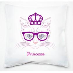 Housse de coussin Princesse Chat