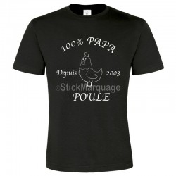Tee-shirt Noir B&c Homme Exact 190 100% Papa Poule