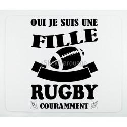 Tapis de souris Rugby pour les femmes
