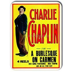 Plaque aluminium Charlie Chaplin In A Burlesque On Carmen