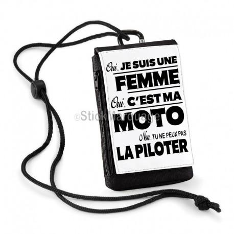Pochette Téléphone Oui c'est ma Moto