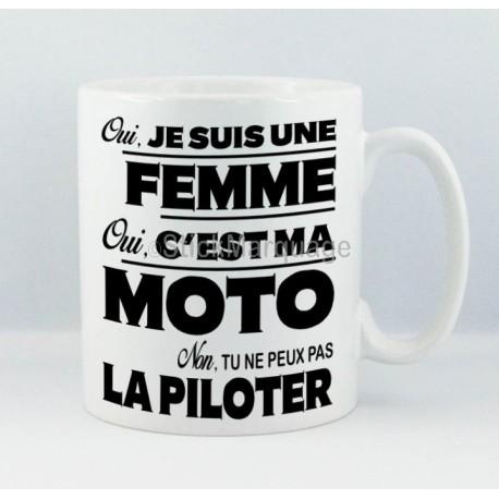 Mug Fille Oui c'est ma Moto
