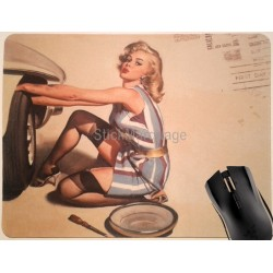Tapis de souris Pin-Up Garage
