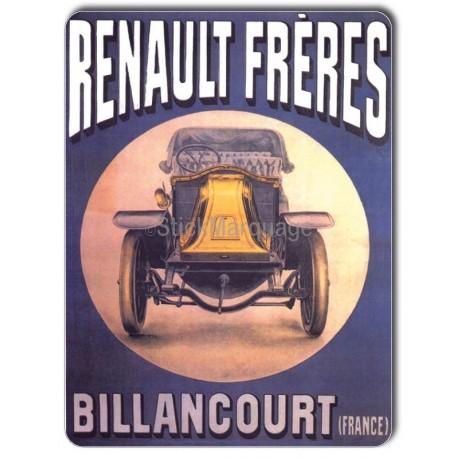 Plaque aluminium Renault Frères Billancourt