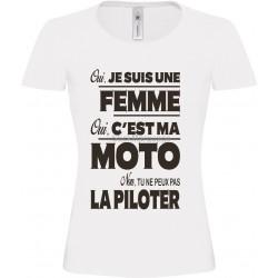 Tee-shirt Blanc B&C Femme Exact 190 Moto