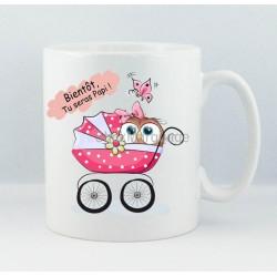 "Mug ""Bientôt, Tu Seras Papi"" Chouette Fille"