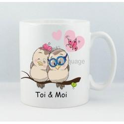 """Mug """"Oiseaux Amoureux"""""""