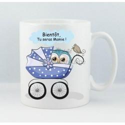 "Mug ""Bientôt Mamie"" Chouette Garçon"