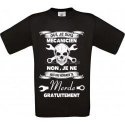 Tee-shirt Noir B&C Homme Exact 190 Mécanicien
