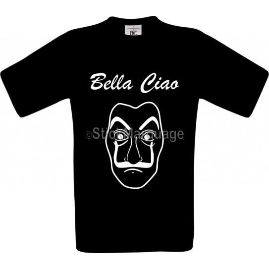 Tee-shirt Noir Homme B&C Bella Ciao