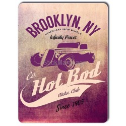 Plaque aluminium Hot Rod Violet