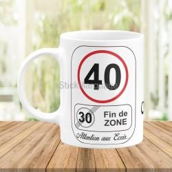 Mug Anniversaire 40 Ans