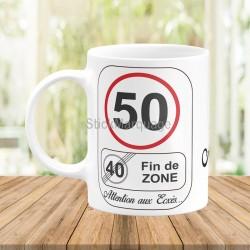 Mug Anniversaire 50 Ans