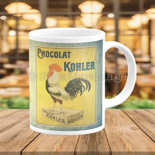 Kohler Mug Thé Vintage Ancienne Affiche Chocolat Retro Café q35ARc4jL