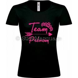 T-shirt Noir Femme EVJF Team de la Mariée