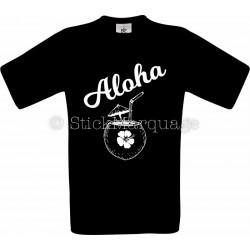 Tee-shirt Noir Homme Aloha