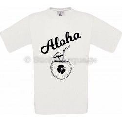 Tee-shirt Blanc Homme Aloha