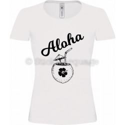 T-shirt blanc Femme Aloha