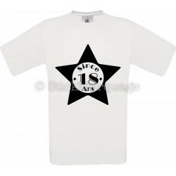 Tee-shirt Blanc Homme 18ème Anniversaire - Since 18 Ans