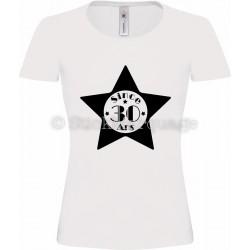 """Tee-shirt Blanc Femme 30ème Anniversaire """"Since 30 Ans"""""""