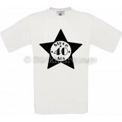 Tee-shirt Blanc Homme 40ème Anniversaire - Since 40 Ans