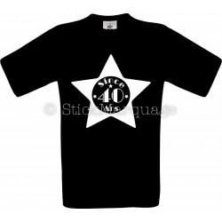 T-shirt noir Homme 40ème Anniversaire - Since 40 Ans