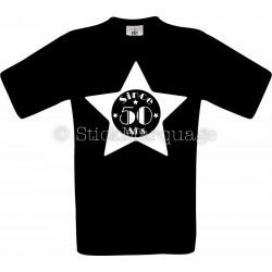 T-shirt noir Homme 50ème Anniversaire - Since 50 Ans