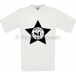 Tee-shirt Star Blanc Homme 80ème Anniversaire - Since 80 Ans