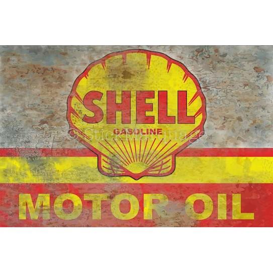 Plaque aluminium Shell Motor Oil