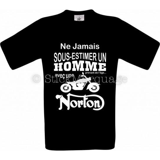 Tee-shirt noir homme moto Norton