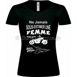 T-shirt noir femme moto Harley-Davidson