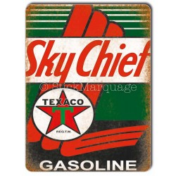 Plaque aluminium Texaco Sky Chief Gasoline
