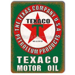 Plaque métal Texaco Motor Oil USA