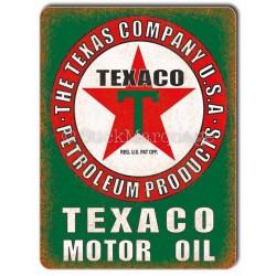 Plaque aluminium Texaco Motor Oil USA