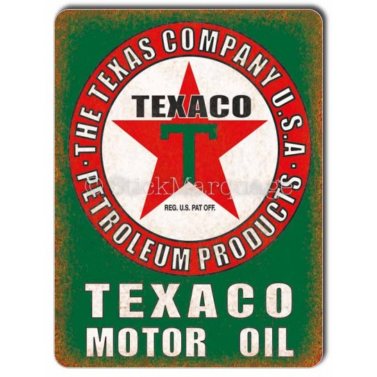 Plaque aluminium Texaco Motor Oil USA