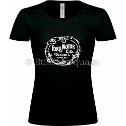 Tee-shirt Ford Motor Co. Detroit noir femme