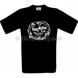 Tee-shirt Ford Motor Co. Detroit noir homme