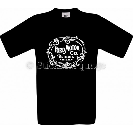 Tee-shirt Ford Motor Co. Detroit noir homme
