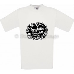 T-shirt Ford Motor Co. Detroit blanc homme